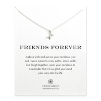 friends forever crossing arrows necklace, sterling silver - Dogeared