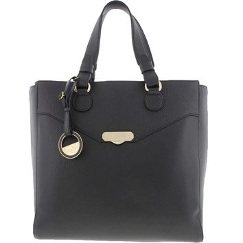 Versace Collection Womens Leather Pebbled Tote Handbag