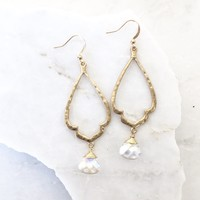 Moon Light Crystal Gold Earrings