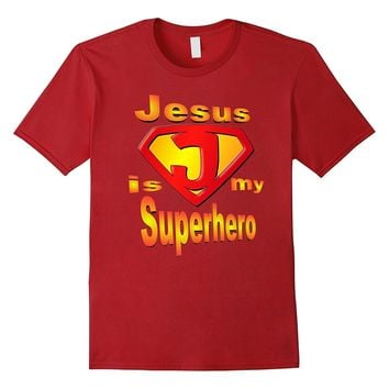Cute Jesus is My Superhero T-Shirt- Church Camp Gift