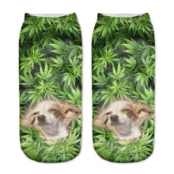 Funny Dog Low Cut Ankle Socks Funny Crazy Cool Novelty Cute Fun Funky Colorful