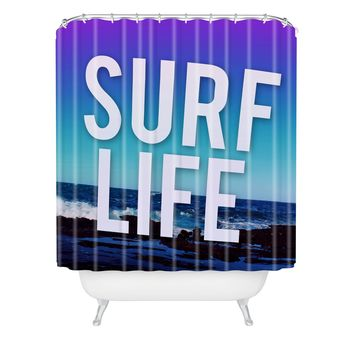 Leah Flores Surf Life Shower Curtain