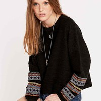 Staring at Stars Festival Trimmed Sweatshirt in Black - Urban Outfitters