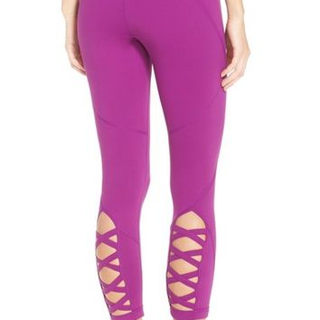 Zella 'Lattice' Crop Leggings | Nordstrom