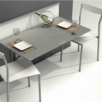 Wall mounted drop-leaf table WALL by CANCIO