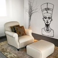 Vinyl Wall Decal Sticker Queen Nefertiti Bust #5040