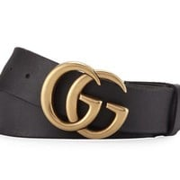 Gucci Marmont Belt W/ Big GG In Gold Brass Bag Receipt NWT AUTHENTIC SOLDOUT