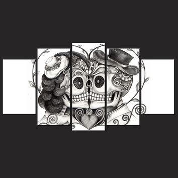 Large Day Of The Dead Wall Art