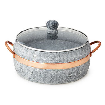 Soapstone Stew Pot with Copper Handle | soapstone stew pot