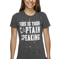 This Is Your Captain Ladies' Tee - Charcoal,