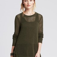 Banana Republic Womens Split Side Long Sweater