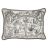 Brooklyn Black and White Embroidered Pillow