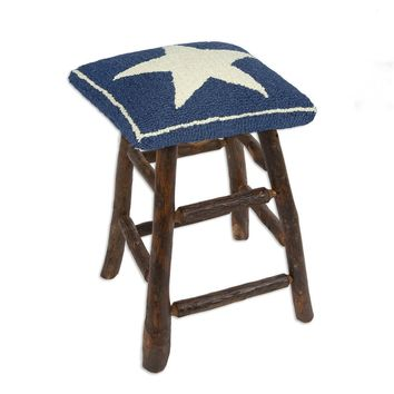 Blue Star Hickory Counter Stool