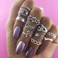 Stylish Jewelry Gift Shiny New Arrival Vintage Hollow Out Floral Ring [11343018831]