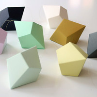 DIY Geometric Paper Ornaments - Set of 8 Paper Polyhedra Templates - Classic Palette