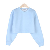 Blue-Toned Cushion Cropped Sweatshirt