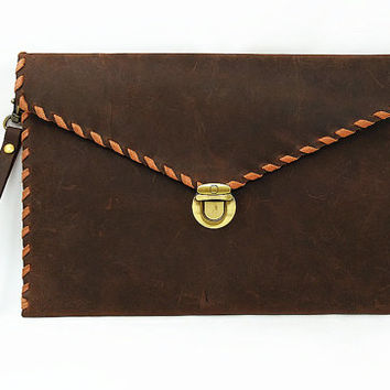 Leather iPad Air 2 Case, iPad Mini Case, iPad Pro Case, iPad Case Monogrammd, Leather Portfolio Case, Envelope Case