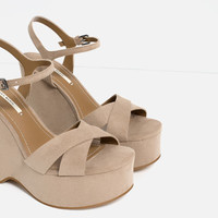 WEDGES WITH ANKLE STRAP