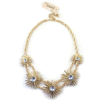 Daisy Gold Bib Adjustable Women Necklace