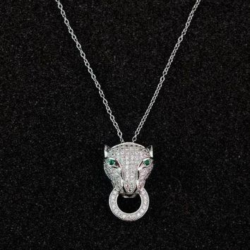 LMFUP0 Cartier Woman Fashion Animal Plated Necklace Jewelry-1