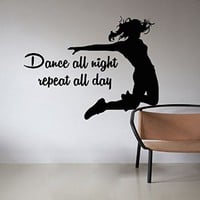 Dancing Wall Decals Quotes Decal Vinyl Dancer Sticker Home Decor Studio Art Window Dorm Living Room MN945