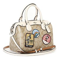 COACH DISNEY X MINNIE MOUSE MINI BENNETT SATCHEL, PATCHES