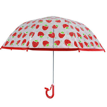 Red Strawberries Umbrella