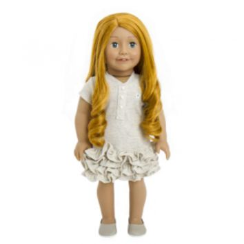 Treasured Dolls - Light Skin with Long Curly Red Hair and Green Irish Eyes
