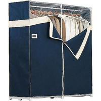 Heavy Duty Portable Closet Clothes Garment Storage Rack Fabric Wardrobe Bedroom