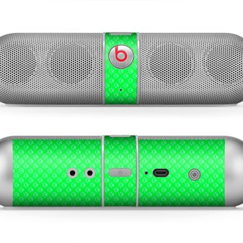 The Subtle Green Paw Prints Skin for the Beats by Dre Pill Bluetooth Speaker