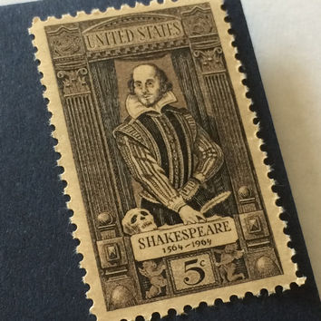 16 Unused Shakespeare Stamps 5c - Vintage Postage - #1250