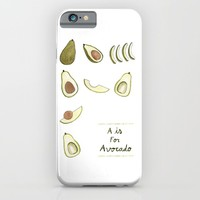 A is for Avocado iPhone & iPod Case by Luisa Méndez