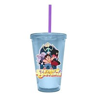 Steven Universe and Gems Travel Cup with Straw Cartoon Show