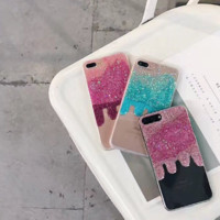 Fashion thaw sequin twinkling plastic Case Cover for Apple iPhone 7 7Plus 6 Plus 6 -005-12-Craftonline