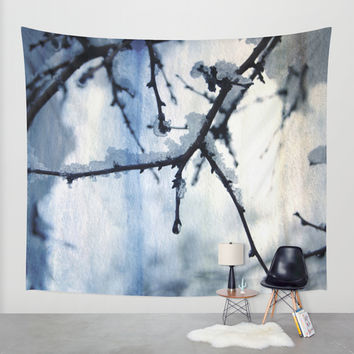 Snow and water Wall Tapestry by VanessaGF | Society6