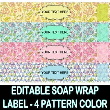 BRIGHTNESS SOAP WRAP Label - Lotion Labels - Product Labels Editable - Diy Soap Wrap - Product Sticker Label