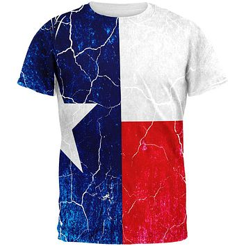 Texas Vintage Distressed State Flag All Over Mens T Shirt
