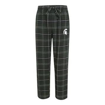 ICIKG8Q NCAA Michigan State Spartans Mens Flannel Pajama Pants