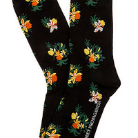 The Tropical High Socks in Black