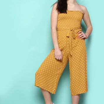 Never Tube Much Smocked Jumpsuit