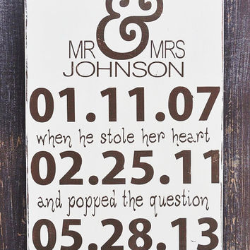 Personalized Engagement Gift,Wedding Gift, Engagement Present, Bridal Shower Gift Custom Wood Sign
