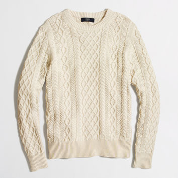 Factory fisherman cable crewneck sweater