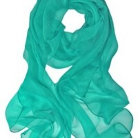 Scarfand's Hand-rolled 100% Silk Chiffon Oblong Scarf *Various Colors Available*