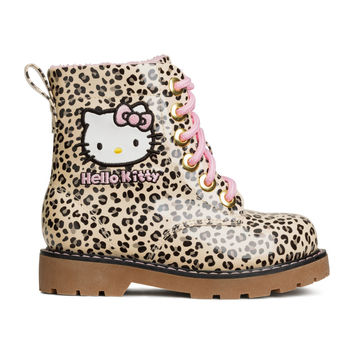 H&M - Lined Boots - Leopard print/Hello Kitty - Kids