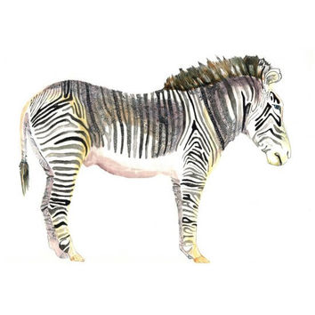 zebra painting  African safari art  original by MandyBesek on Etsy