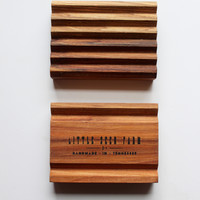 Sustainably Sourced Hickory Handcrafted Soap Dish