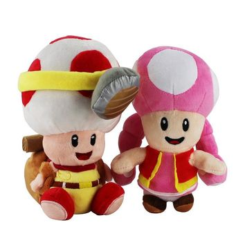 Super Mario party nes switch 2pcs/set Hot game Captain Toad Treasure Tracker Toadette  soft stuffed plush toys kids Gift AT_80_8