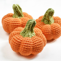 Crochet Pumpking (1pc) - Play Food - Learning toy - Halloween Decoration - Thanksgiving Decor