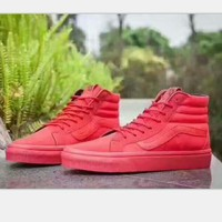 Vans Fashion high-tops sports shoes red H-PSXY