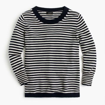 Striped crewneck sweater in everyday cashmere